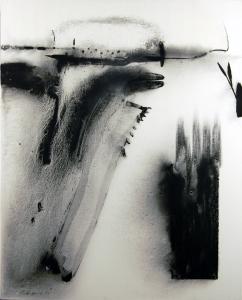 fresh grief, 2015, graphite on canvas, 24 x 30